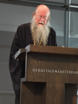 Father Andrew during Hermitage lectures